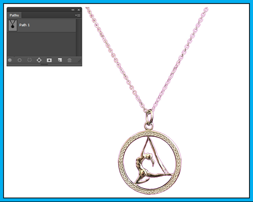 necklace clipping path