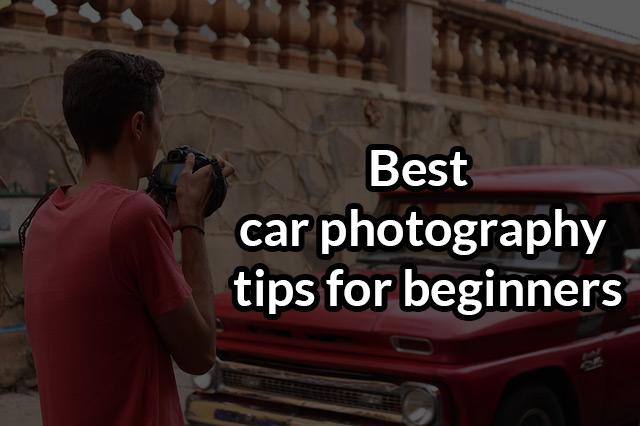 car photography tips