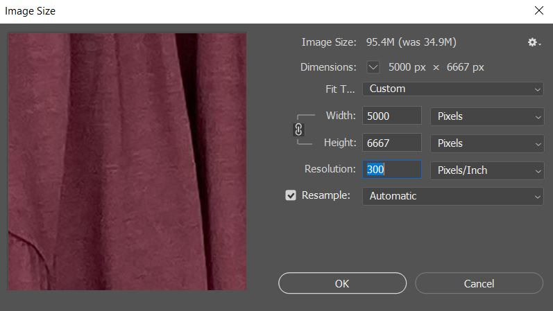 resize images in photoshop