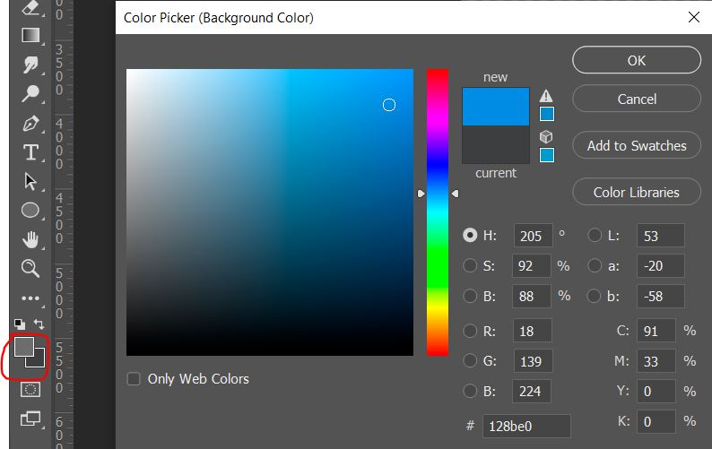 set background color in photoshop